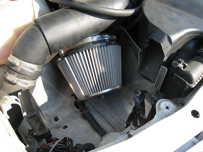 ヤフオク購入品 JZX100 エアクリーナー仕切りアルミ板