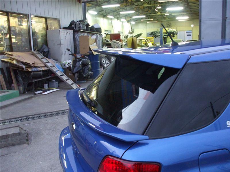 インプレッサ スポーツワゴン WRXカーサービス ヒロ製 ルーフスポイラーの単体画像