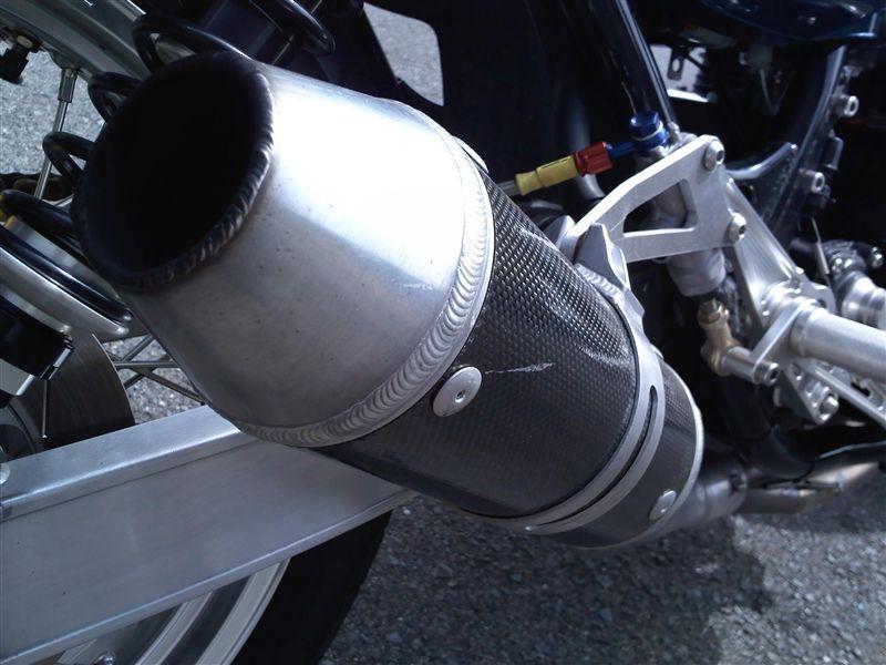 750RSタバックス ワンオフマフラーの単体画像