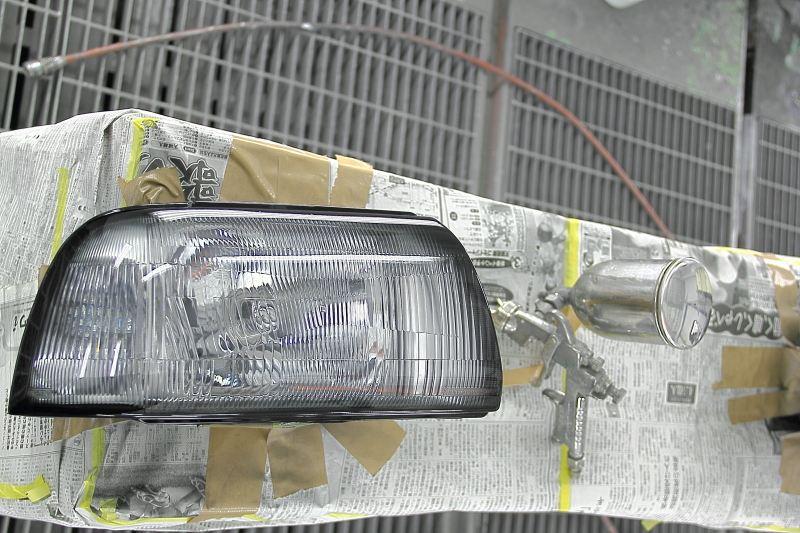 セルボ・モードTDOモータリング ヘッドランプ スモーク塗装の単体画像