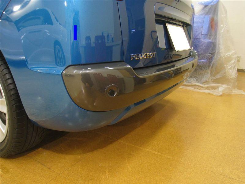 207SW (ワゴン)板金塗装店オリジナル フロント・リアモール塗装の単体画像