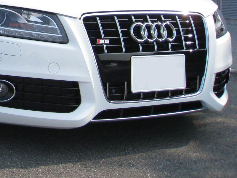S5 (クーペ)純正s5グリル&フォグ周り・アンダーステー 塗り替え・クローム化の単体画像