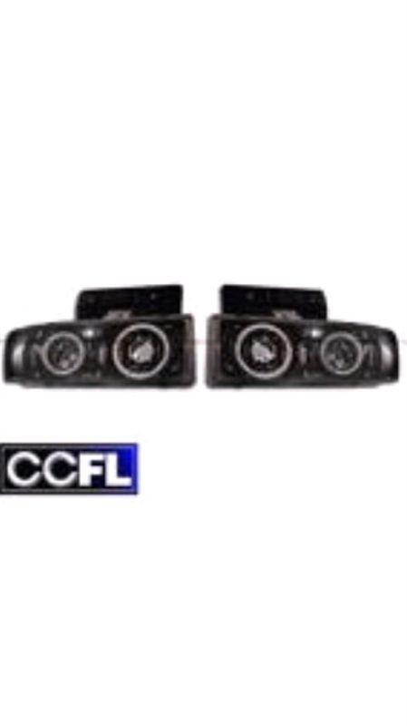 サファリカリフォルニアカスタム CCFLリング付きプロジェクターヘッドライト(JDMブラック)の単体画像