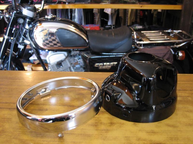 ベンリィ CD125Tホンダ純正 ヘッドライト リム&ケースの単体画像