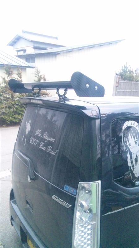 ワゴンRBE FREE NEW! GTウィング アルミカーボンフェイク ハッチバックタイプ シングル 幅1100mの単体画像
