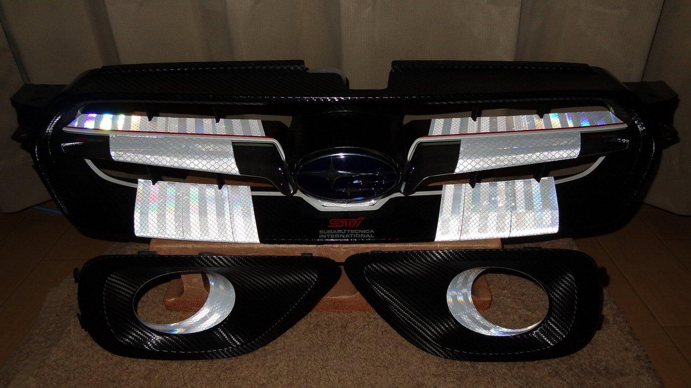 レガシィB43M カーラーピングフィルム ブラックカーボンタイプ カーボンシートの全体画像