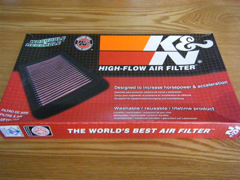 K&N  HIGH-FLOW AIR FILTER(純正交換タイプ)