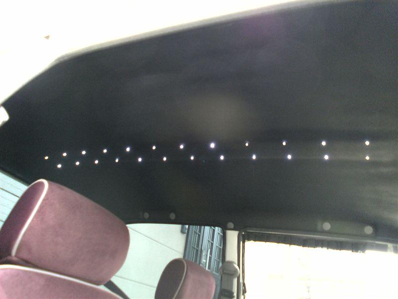 自作 天井黒塗り&LED追加