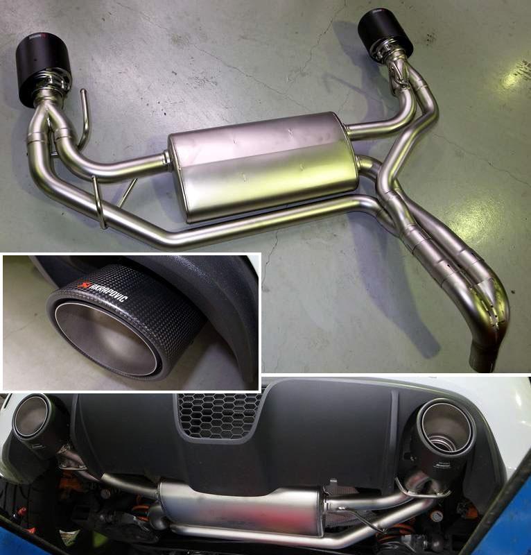 アバルト・500 (ハッチバック)AKRAPOVIC Exhaust System:Slip-Onの単体画像