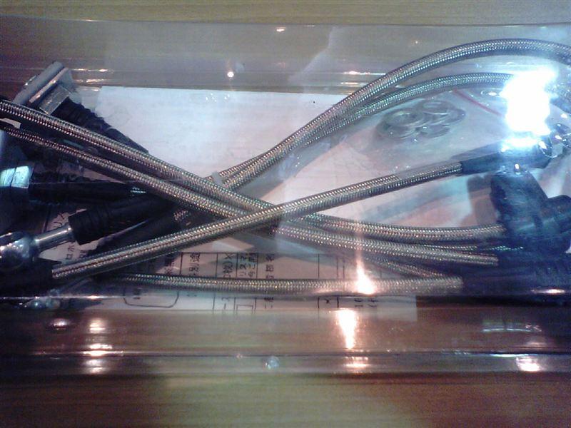 LAST STATION GE8 リアディスク車用ステンレスメッシュライン・ハーフステン (スチールエンド)