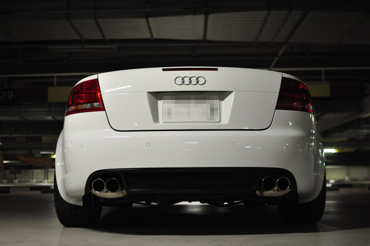 RS4カブリオレGee concept  G.T.M Exhaust (Gee concept Technical Making Exhaust) の単体画像