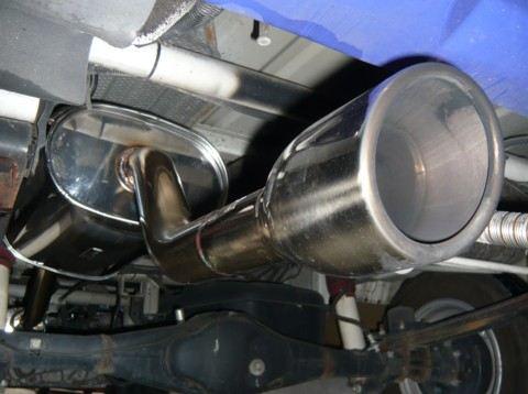 スクラムGT CAR プロデュース オールステンレスマフラー キャリイキャンピングカー(ラ・クーン)用の単体画像
