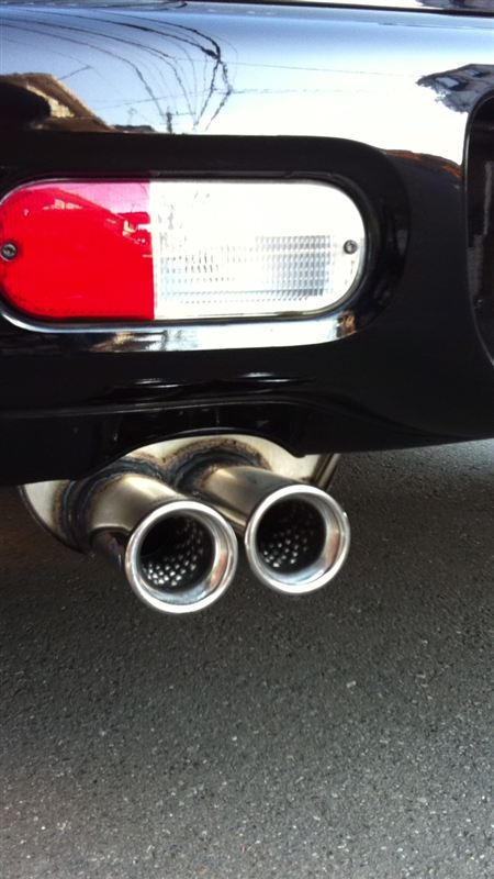 PTクルーザーFOX  FINAL SILENCER TWIN EXHAUST MUFFELERの単体画像