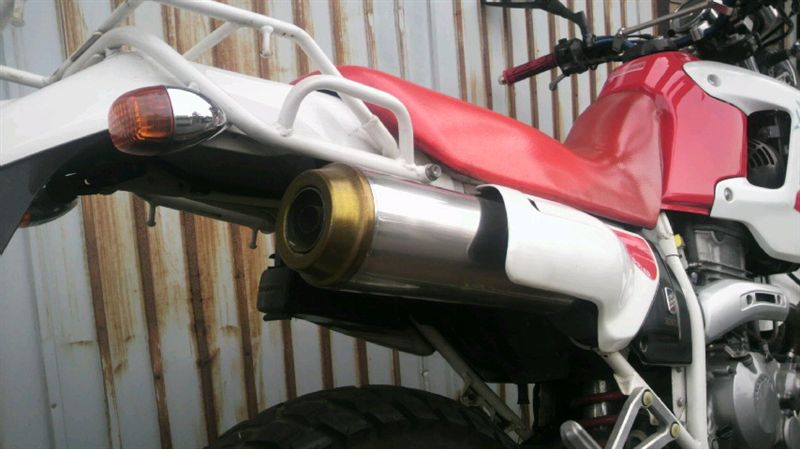 XL250ディグリーK-papaブランド 純正改・ステンレス巻きマフラー。の単体画像