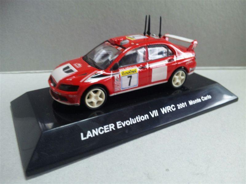 1/64 RALLY CAR COLLECTION SS.2 MITSUBISHI LANCER Evolution VII WRC 2001 Monte Calro