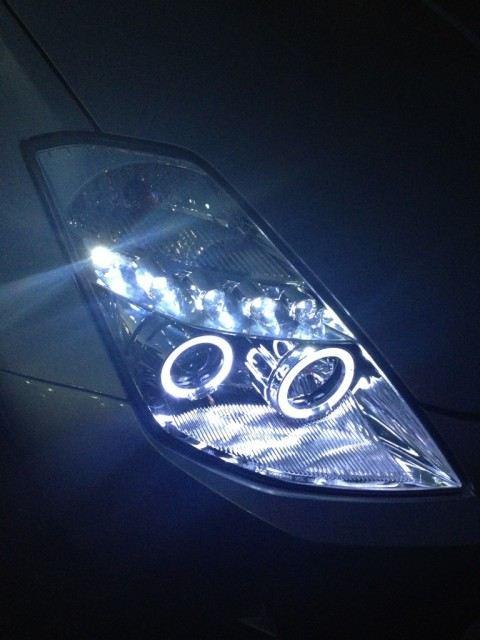 フェアレディZCAR STUDIO イカリングヘッドライトクロームの単体画像
