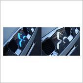 AUTO FLAGS カラーチェンジ三菱LEDエンブレムベース 白→青