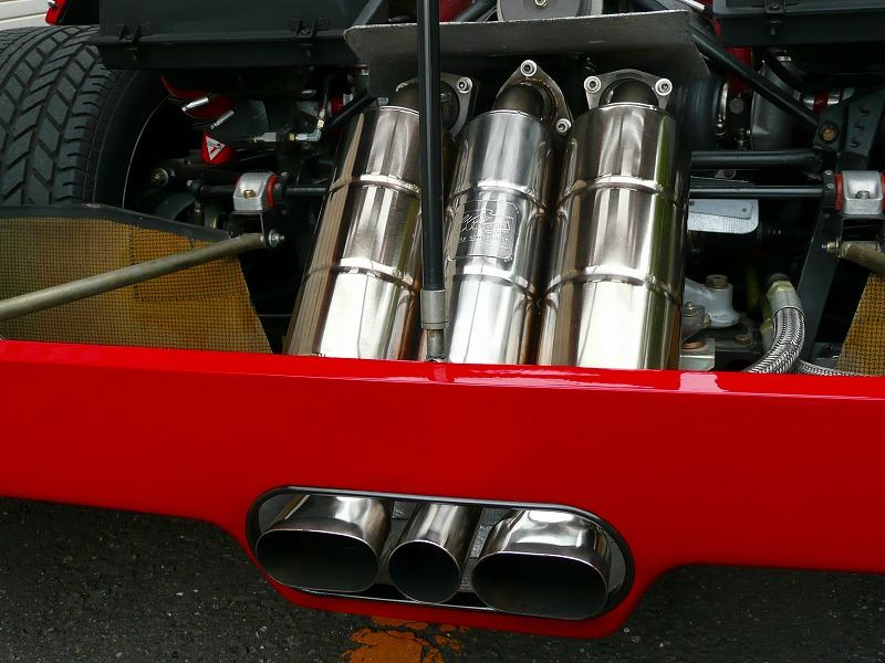 F40tubi style F40 not catalyst car exhaust の単体画像