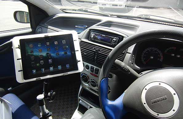 SANWA SUPPLY 100-MR024 iPad 車載スタンド フロントシート用