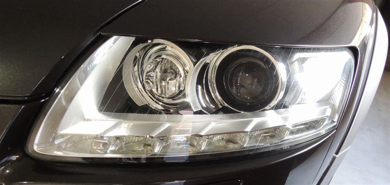 A6オールロードクワトロAudi純正 MC後LEDデイライト付きユニットの単体画像