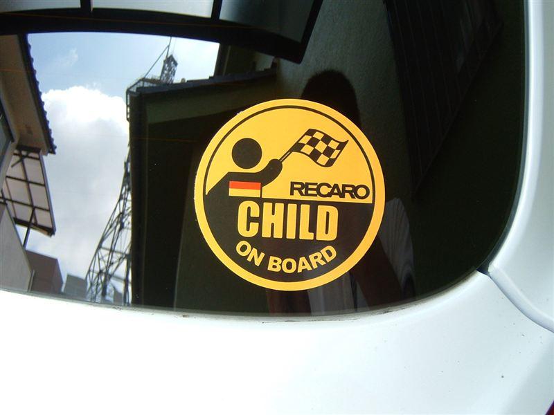 RECARO CHILD ON BOARDステッカー