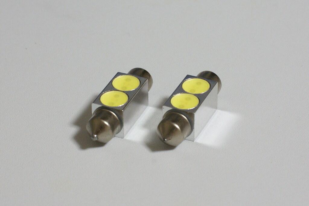 不明 T10×36mm 1W×2 LED