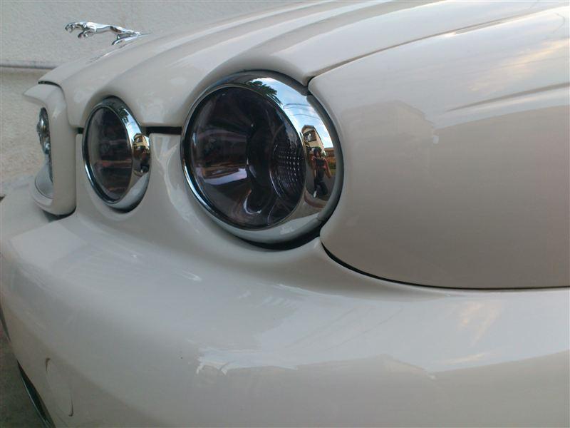 Xタイプ エステート (ワゴン)MAJESTIC フロント・クローム・ランプリム・セットの単体画像