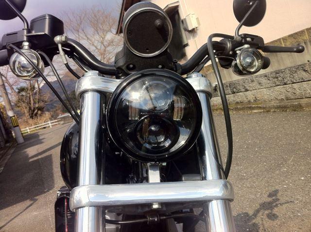 ダイナ スーパーグライド米ハーレー純正OP LEDヘッドライトの単体画像