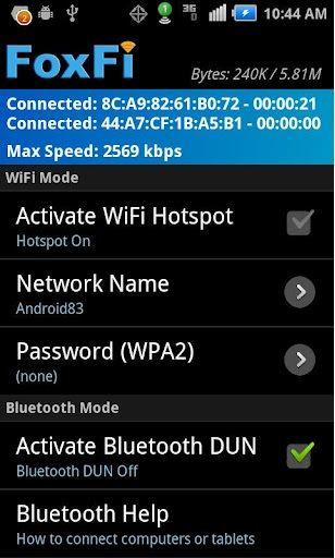 foxfi software foxfi activate bluetooth dun のパーツレビュー