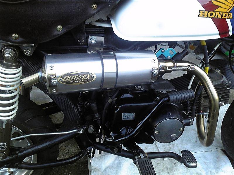 モンキーOUTEX R-SA/T2 アップマフラーの単体画像