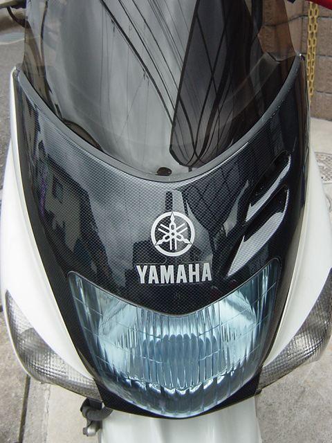 マジェスティ125不明・・・!? カーボン調 ヘッドライトモールガーニッシュの単体画像