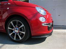 フィアット500 (ハッチバック)Cobalt(コバルト)FIAT500用 カーボン・リップスポイラーの全体画像