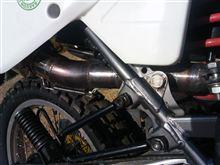XLR125Rオリジナル ステンレスマフラー オリジナル ステンレスマフラーの全体画像