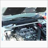 ㈱オクヤマ(CARBING) ストラットタワーバー アルミ製 フロント 専用タイプ マスターシリンダーストッパー付き