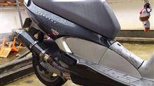 レオナルド250某オク無印品 汎用カーボンサイレンサーの単体画像