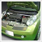 ㈱オクヤマ(CARBING) マーチ(K12) ストラットタワーバー フロント スチール製 タイプD マスターシリンダーストッパー付