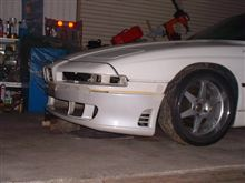 8シリーズBMW純正改 三菱GTO流用フロントスポイラーの全体画像