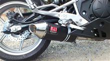 Ninja400Rヨシムラ スリップオンサイレンサー Oval-Coneサイクロン EXPORT SPEC SMの全体画像