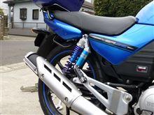 YBR125RFY / RACING FACTORY YAMAMOTO リアサスペンション(ブルー)の全体画像
