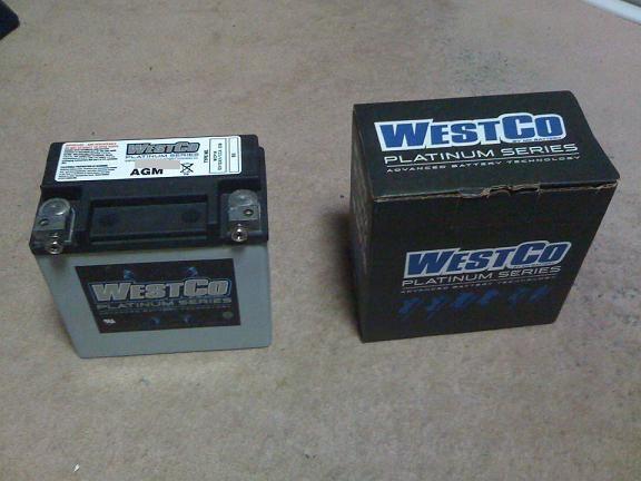 westco batteries  バッテリー