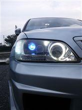 ランサーセディア寄せ集め ヘッドライト加工の全体画像