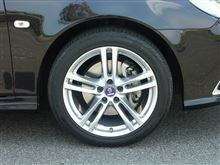 """9-3 スポーツエステートHirsch 8x18"""" Alloy Wheel Brilliant Silver の単体画像"""