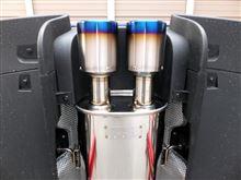 MINI CoupeARQRAY 新基準対応 Titanium Tailマフラーの全体画像