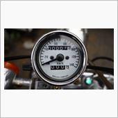 不明 汎用機械式140km/h トリップ付きミニスピードメーター