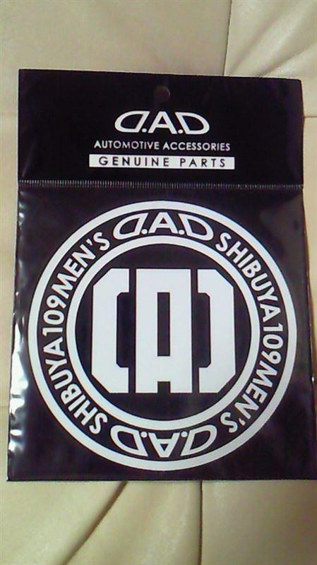 D.A.D / GARSON  D.A.D 0-Lmited ステッカー SHIBUYA ホワイト
