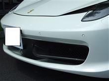 458イタリアNOVITEC ROSSO  カーボン Fバンパーエアダクトウイング の単体画像