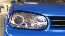 スペイシー100不明 ゴルフ4 LEDイカリング付プロジェクターヘッドライトの単体画像