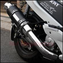 Q2-125FIマーキュリー(純正) マフラーの単体画像
