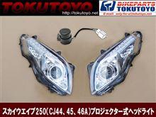 スカイウェイブ400輸入物(台湾製か中華物かなぁ…) プロジェクターヘッドライト LEDウインカーの単体画像