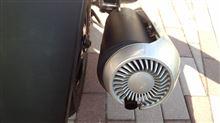 JOG ZR Evolution (エボリューション)PG製 新PG管(PG社製カーボンカバータイプマフラー)の全体画像